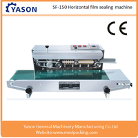 SF-150 Horizontal Automatic Aluminum Foil Bags Heat Sealing Machine/Plastic Food Container Sealing Machine