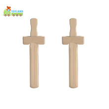 New Design Durable Customized Hot Sale Polished Wooden Sword Toy For Children