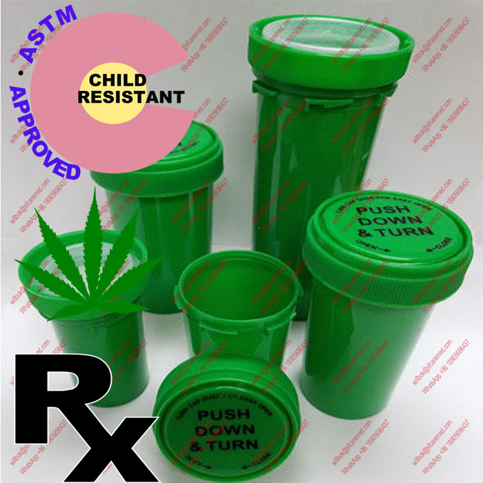 CR Snap RX prescription reversible cap vials containers