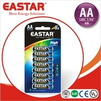1.5v um3 battery aa size LR6 NO. 5 alkaline battery