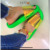 2019 Hot Sale Sexy Lady European And USA Styles Transparent Jelly Neon Sandals Beach Slipper