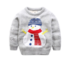 P18A97HX Baby Boys Girls Toddler Long Sleeve Christmas Snowman Pullover Sweater Sweatshirt