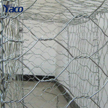 China supplier Yachao barrier 60*80mm Gabion Box hexagonal wire mesh basket