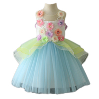 Latest model pure flower children clothes girls party dresses kids summer clothes 2019