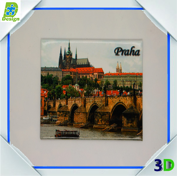 Custom design 3d souvenir rubber fridge magnet from different country landscape scenery