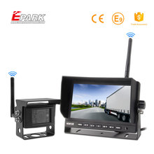 "Trade Assurance 7"" 2 channel wireless monitor 24 volt reversing camera system 12V DC for lorry"