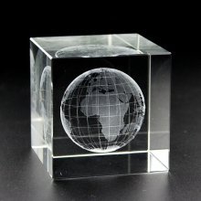 Cheap 3D laser etched blank k9 crystal block glass cube for engraving with high quality