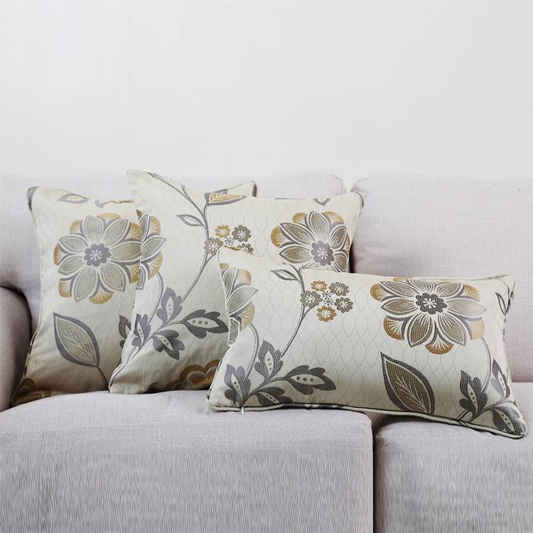 Hot sell certification design flower cushion cover plain custom decoration cushion cover