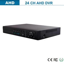 Full real-time encoding video 1080p 24ch ahd dvr with firmware software