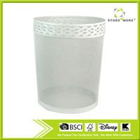 Household Beauty Recyclable Metal Mesh Round WasteBasket / Waste Bin / Trash Can