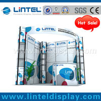 hot sale 10'*10'ft fast exhibition booth design and construction