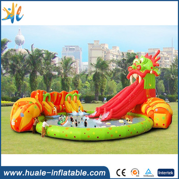 High quality PVC material backyard inflatable water park for kids