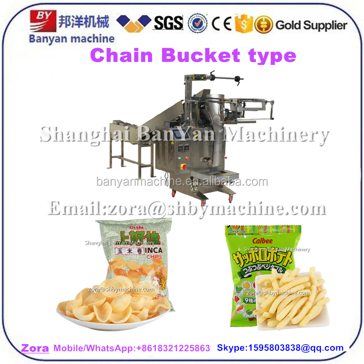 CE certificate semi Automatic Shrimp Cracker / plantain chips /frozen food fish balls Packing Machine