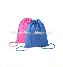 Cheapest custom promotional 100% recycled cotton canvas drawstring bag