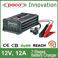 12V 12A High Efficiency Car Battery Charger With Optional Plug
