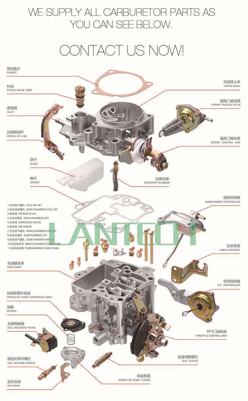 Ldh107 Carburetor For Suzuki 462q F8a Engine 13200