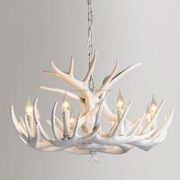 artistic style antler white pendant light good for home