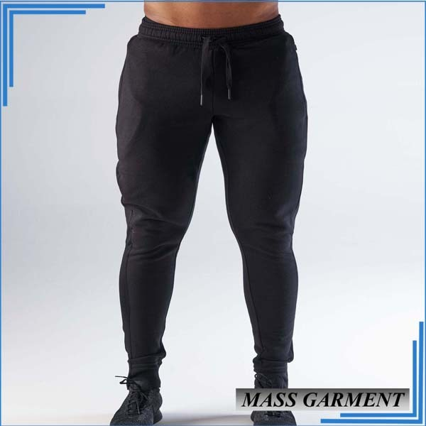 Wholesale Gym Jogger Men's Long Pants Custom Black Pants With Pocket