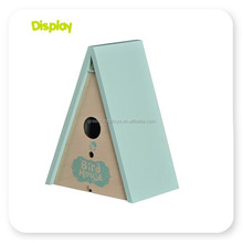 Customized small wood crafts bird house with low price bird nest stainless steel bird cage wire mesh