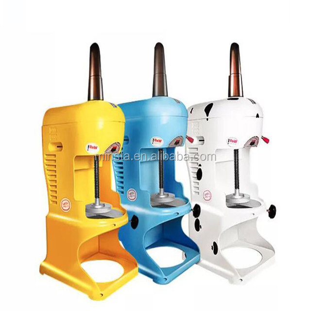 Manual shaved ice machines