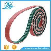 Customised heat-resistant 14M APL endless pvc timing belt with guide