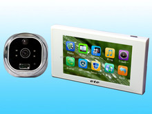 China supplier Hot new wide angle big screen High-Tech Motion Detection digital door peephole camera with recorder