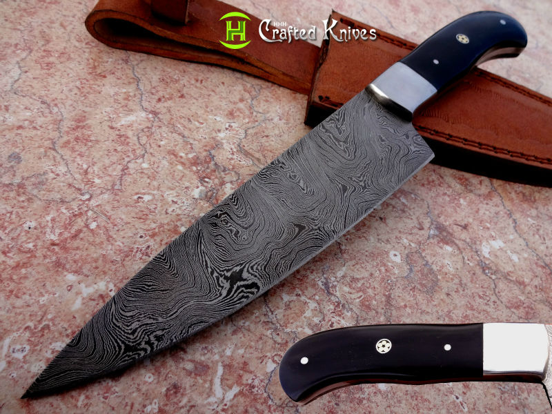 DAMASCUS STEEL CHEF KNIFE.