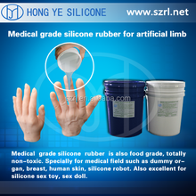 liquid silicone rubber to make human arms and legs