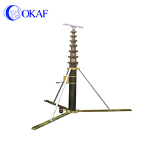 Manual light tower mast mobile telescopic antenna mast with tripod