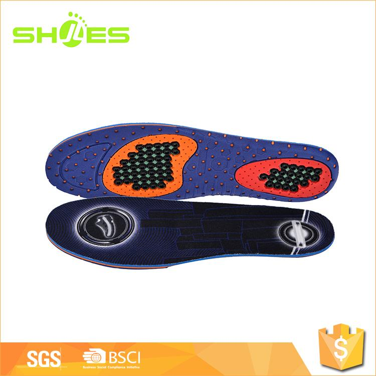 Comfortable custom color eva and gel flat feet insoles from China