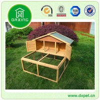Wooden Rabbit Hutch With Removable Metal Tray