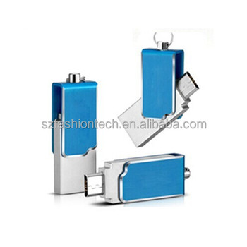 Best Price Dual Port Android mobile phone mini swivel OTG Usb Flash Drive