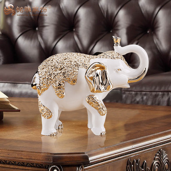 China wholesale indian bulk resin elephant figurines for home decoration handmade crafts
