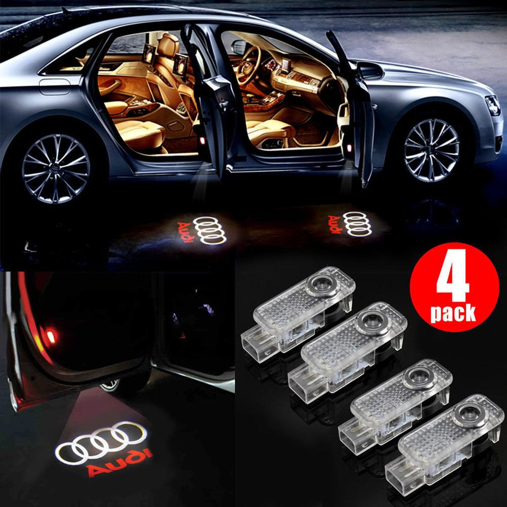 GlowDisplay LED Logo Light Shadow Projector Car Door Courtesy Laser for Audi A4 A6 A8 Q7