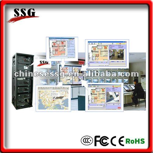 SSG Alarm monitoring center support IP/GPRS/GSM/PSTN terminals access