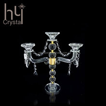 wedding home decoration elegant luxury floor standing wholesale new designwedding decorative 3 arms crystal candelabra