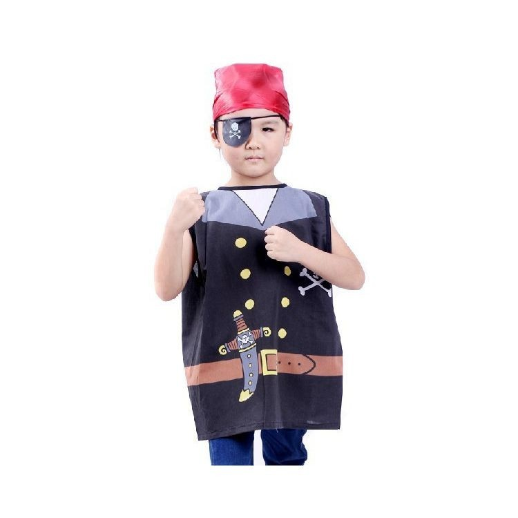 7000961-Cool Kids Performance Clothes Cosplay Costumes Pirates Clothing For Halloween