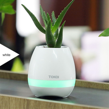 3 In 1 Rechargeable Smart Music Flower Pot + Protable Bluetooth Speaker Wireless + Led Light