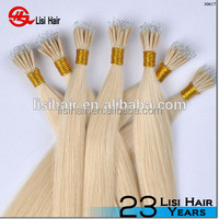 Wholesale Raw Unprocessed Double Drawn Russian Nano Ring Hair Extension With Cuticle Intact