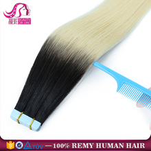 Quality Wholesale Seamless Waterproof Skin Weft Russian Remy Double Drawn Tape Hair Extensions