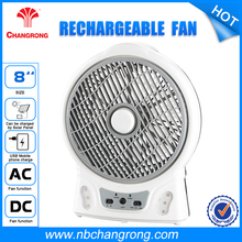 "8"" Table Fan Specifications Portable Desk Rechargeable table fan"