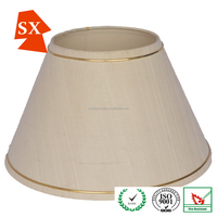 european style modern ceiling TC fabric cone shaped table lamp shades