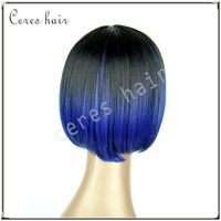 1B/Blue mixed ombre color 100% Futura wig short bob hairstyle wig at cheap price
