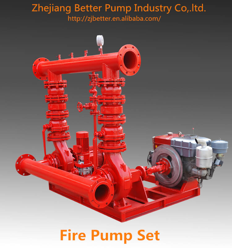 Skid Mounted Pre Unit Fire Fighting Pump with Jockey Pump