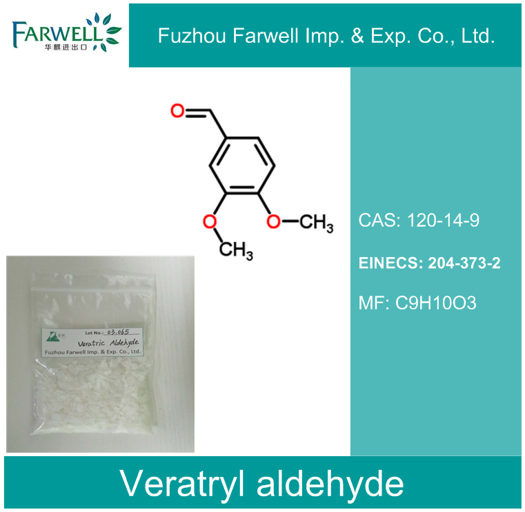 Farwell Veratryl aldehyde, Organic Intermediate 3 4-dimethoxybenzaldehyde with Competitive Price CAS NO. 120-14-9