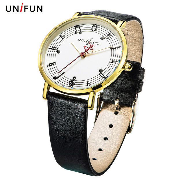 UNIFUN watch female fashion trend artistic South Korea small fresh note waterproof belt quartz simple wristwatch students