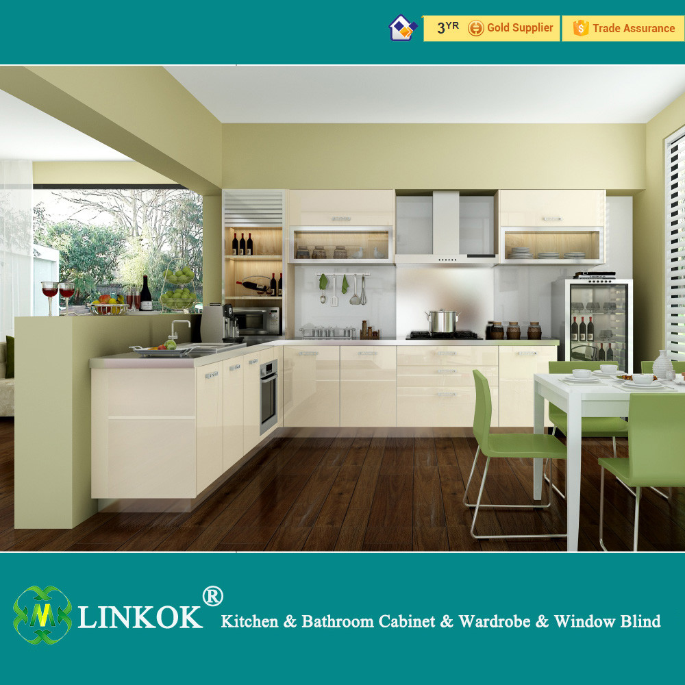 Modern gloss white kitchen cabinets with best price buy for Modern gloss kitchen cabinets