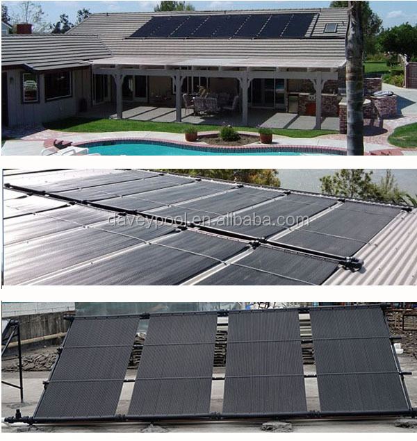 Black Less Lose Heat Plastic Solar Heating Panels For Above Swimming Pool Buy Plastic Solar