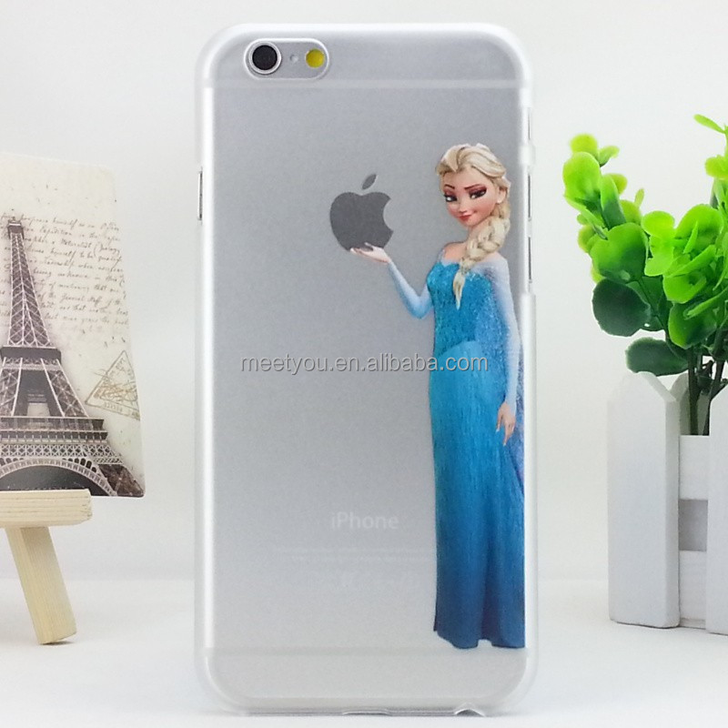 Phone case for iphone 4 4S clear Frozen Cartoon characters PC hard Custom phone case for iphone 4 4S