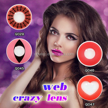 Hot sell Pink heart crzay contact lens yearly color contact lenses special for party